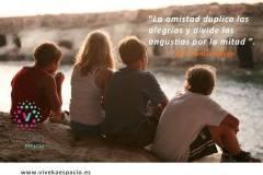 La amistad duplica las alegrías y divide las angustias por la mitad (Francis Bacon).