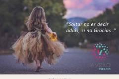 Soltar no es decir adiós, si no Gracias